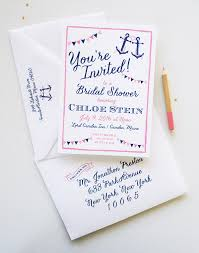 nautical bridal shower invitations unique bridal shower invitations mospens studio