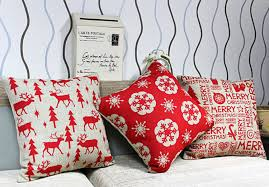 Christmas Decorative Pillow Cases by Christmas Home Decor Cushion Cover 3pcs Lot Edelweiss Pillow Case