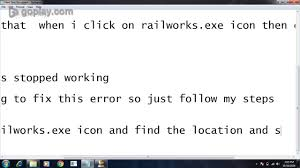 how to fix train simulator railworks exe stopped working error