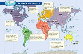 India On The World Map by World War I Humanity