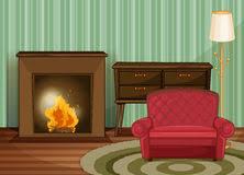 cartoon living room background living room drawn in cartoon style stock illustration illustration