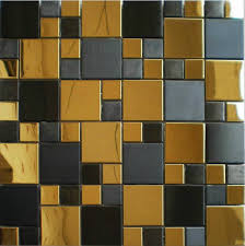 Gold Items Crystal Glass Mosaic Tile Wall Backsplashes by Gold Mix Black Metal Mosaic Tile Smmt037 Stainless Steel Metallic