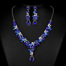 white gold fashion necklace images White gold plated royal blue red crystal rhinestone drop earrings jpg