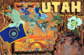Map Of Utah by Large Detailed Tourist Illustrated Map Of The State Of Utah