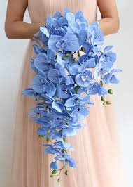 Blue Orchids Artificial Orchids Silk Wedding Flowers Silk Orchids At