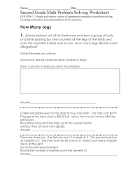 collections of free printable 2nd grade math word problems