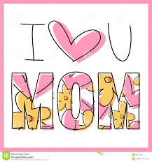 mother s day card message stock illustration image 92212281