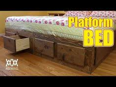 Diy King Size Platform Bed Frame by Free Plans To Build A Cal King Platform Storage Bed Feelin