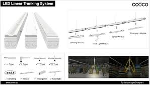most efficient lighting system factory lighting supermarket lighting led linear lighting system