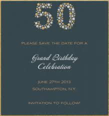 card invitation design ideas birthday save the date cards fifty