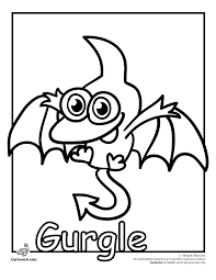 cute monster coloring pages to print colorings net