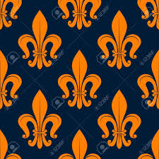 what is floral pattern in french classic french floral pattern with seamless orange fleur de lis