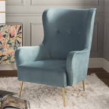 wingback chair armchair blue velvet yellow wing chair fabric