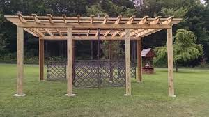 pergola grape arbor youtube