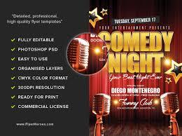 comedy night flyer template flyerheroes