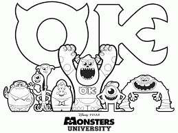 coloring page monsters inc cute monsters inc coloring pages for kids amazing new monster
