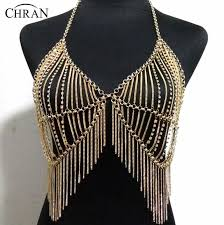 gold necklace dress images Chran luxury women gold silver beach chains fashion alloy harness jpg