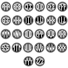 monogramed letters monogram letters template template idea