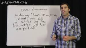 Linear Programming Word Problems Worksheet Algebra U2013 Linear Programming Youtube
