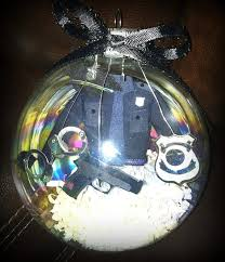 4in blown glass officer ornament by noturordinaryornamnt