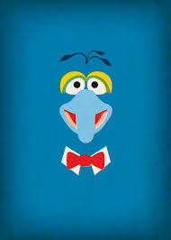 muppets show gonzo minimalist poster retro theretroinc