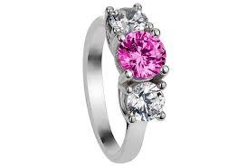 black wedding rings with pink diamonds vintage black and pink wedding rings sets