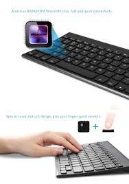 bluetooth 7 colors backlit keyboard ergonomic design for android