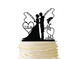 fishing wedding cake toppers personalized wedding cake topper fishing and