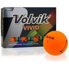 volvik matte sherbet orange golf balls golfballs