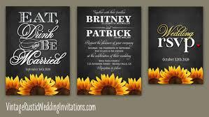 sunflower wedding invitations sunflower wedding invitations vintage rustic wedding invitations