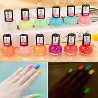 20 colors glow in the dark neon fluorescent nail polish varnish