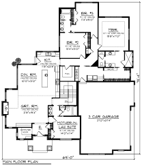 Floor Plans For House With Mother In Law Suite Ranch Style House Plan 4 Beds 3 00 Baths 2782 Sq Ft Plan 70 1202