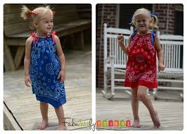 quick easy and adorable diy bandana dress fabulessly frugal