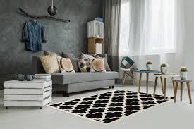 Tapis Salon Noir Et Blanc by Tapis Salon Ambiance Scandinave Indogate Com Salle De Bain