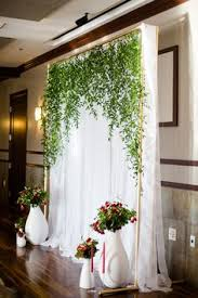 wedding backdrop modern floral on card wall wallace meeting with gardengate