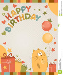 cute happy birthday card cat wallpaper 11602 wallpaper computer
