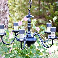 Gazebo Solar Chandelier Battery Operated Outdoor Chandelier U2013 Eimat Co