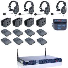 Custom Mic Flags Clear Com Cz11513 4 Up Hme Dx210 Intercom System With Hs15