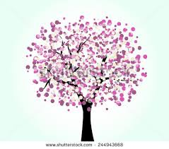 isolated 3d rendered blossom tree stock illustration