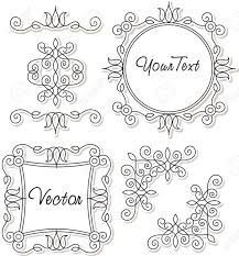 vector set vintage ornaments and frames royalty free cliparts