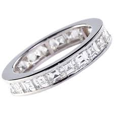 white gold eternity ring cut diamond white gold eternity band 22 stones 4 50 carat