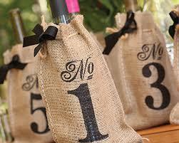 burlap wedding favor bags printed burlap table number wine bags 1 10 my wedding favors