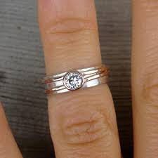 wedding ring order moissanite engagement or wedding ring with recycled 14k gold