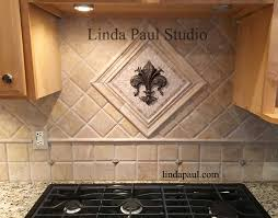 Small Kitchen Back Splash Medallions Mosaic Stone And Metal - Kitchen medallion backsplash