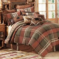 Plaid Bed Sets Bedroom Plaid Bedding Set Includes Comforter With Glass Windows