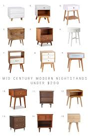 mid century modern bedside table mid century modern nightstands under 200 nightstands mid century