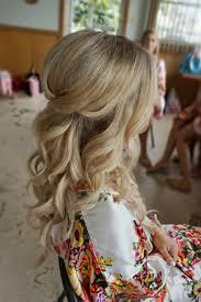 half up half down curl hairstyles u2013 partial updo wedding