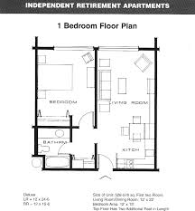 Apartment Plans Floor Plan Of One Bedroom Apartment With Design Picture 25255