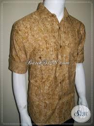desain baju batik pria 2014 model baju batik casual lengan panjang pria dua saku lengan dilipat