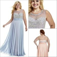 bling plus size evening dresses sheer scoop neck beads illusion